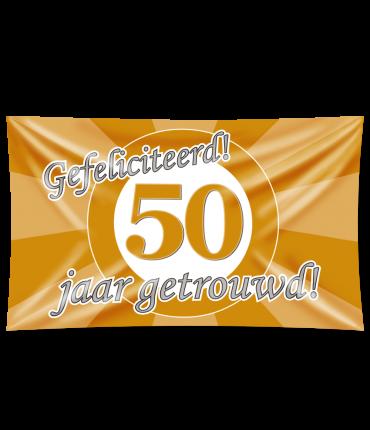 Gevel vlag - 50 jaar getrouwd