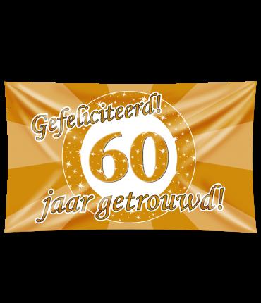 Gevel vlag - 60 jaar getrouwd
