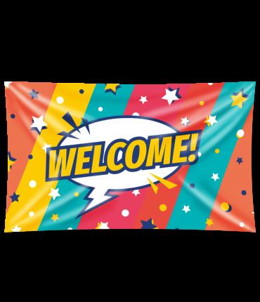 Gevel vlag - Welcome