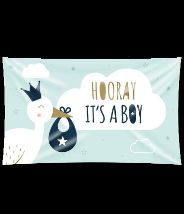 Gevel vlag - New born baby boy