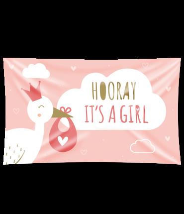 Gevel vlag - New born baby girl