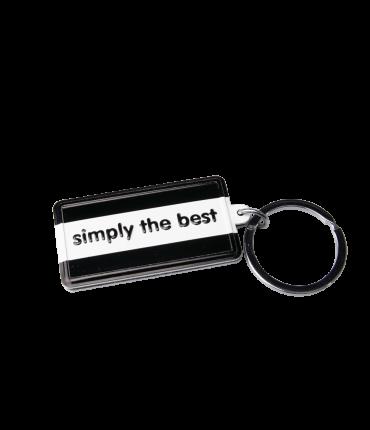 Black & White keyring - Simply the best