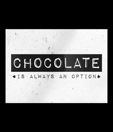 Black & White Cards - Chocolate