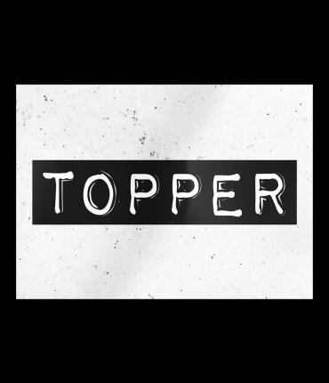 Black & White Cards - Topper
