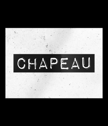 Black & White Cards - Chapeau