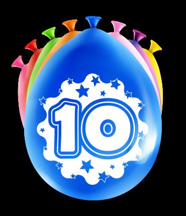 Party Ballonnen - 10 years
