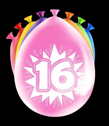 Party ballonnen 16 years