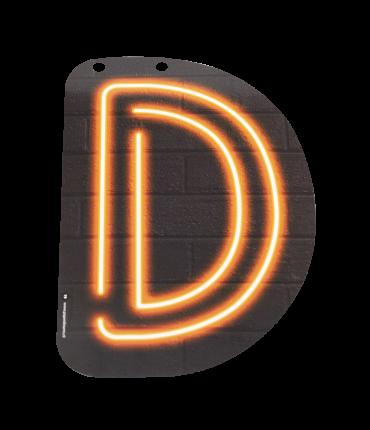 Neon letter - D