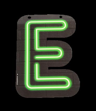 Neon letter - E