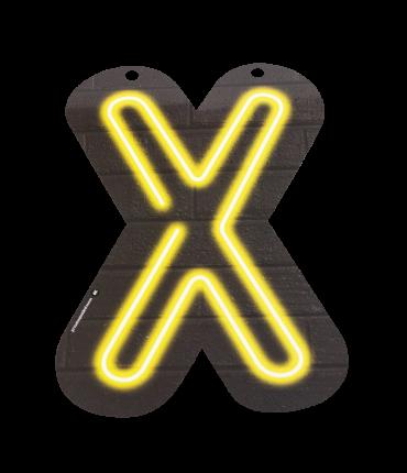 Neon letter - X