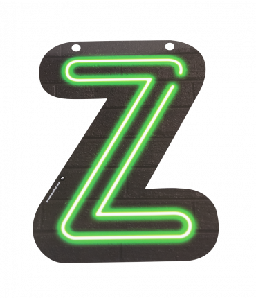 Neon letter - Z