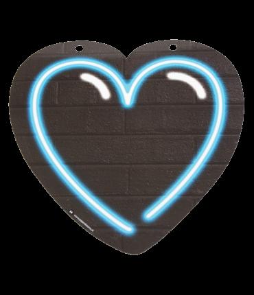 Neon letter - Hart blauw
