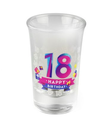 Happy shot glasses - 18 jaar