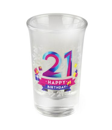 Happy shot glasses - 21 jaar