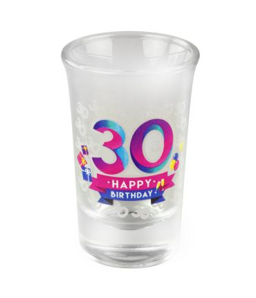 Happy shot glasses - 30 jaar