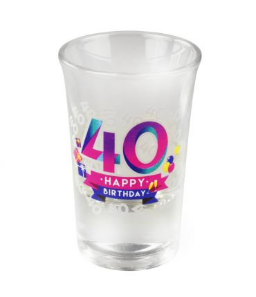 Happy shot glasses - 40 jaar