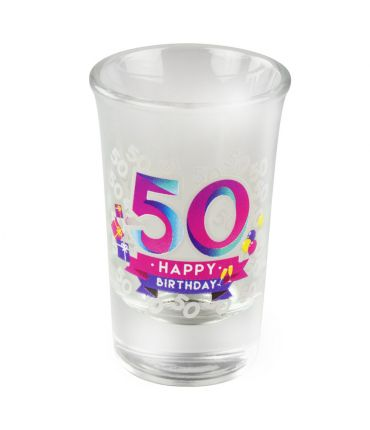Happy shot glasses - 50 jaar