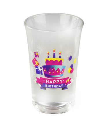 Happy shot glasses - Happy birthday
