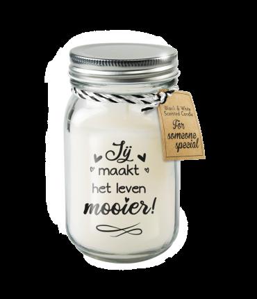 Black & White scented candles - Jij maakt het leven mooier