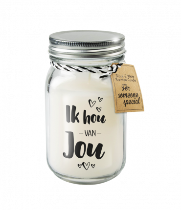 Black & White scented candles - Ik hou van jou