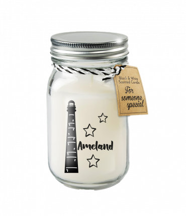 Black & White scented candles - Ameland