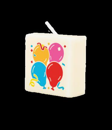 Letter Kaarsje - Balloons