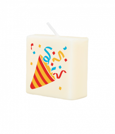 Letter Kaarsje - Party