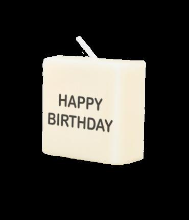 Letter kaarsje - Happy birthday