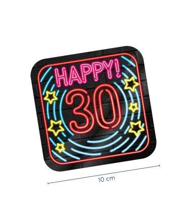Neon onderzetters - 30 jaar