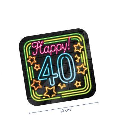 Neon onderzetters - 40 jaar