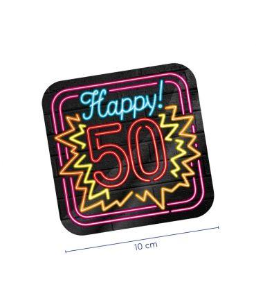 Neon onderzetters - 50 jaar