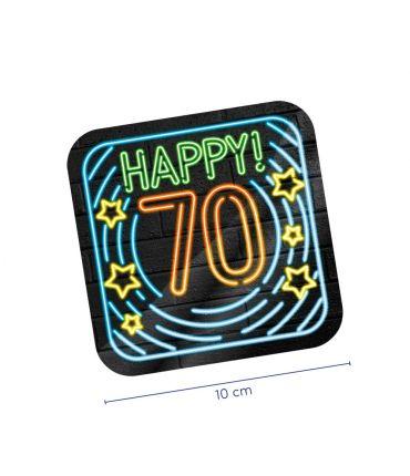 Neon onderzetters - 70 jaar