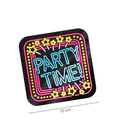 Neon onderzetters - Party time!