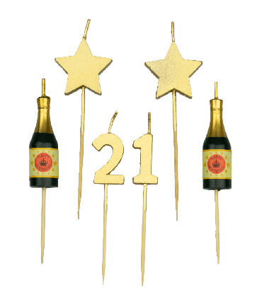 Party cake candles - 21 years