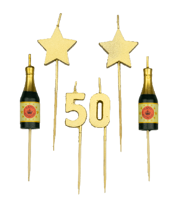 Party cake candles - 50 years