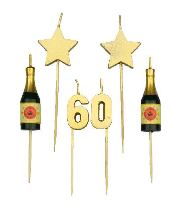 Party cake candles - 60 years