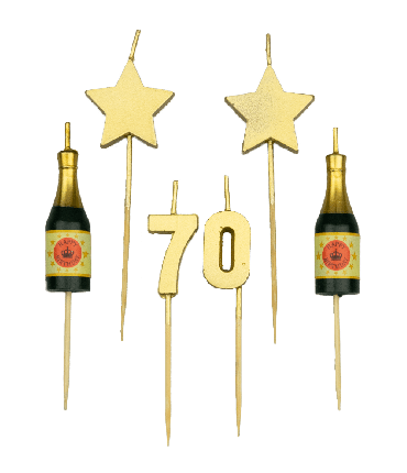 Party cake candles - 70 years