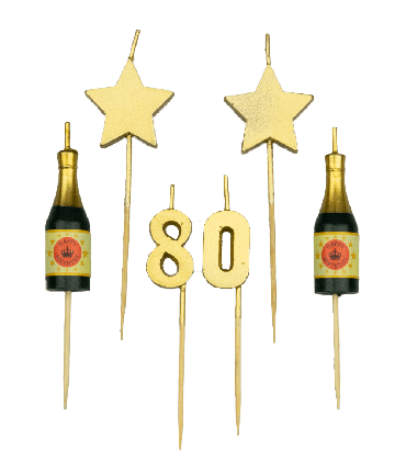 Party cake candles - 80 years