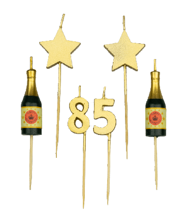 Party cake candles - 85 years