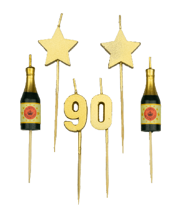 Party cake candles - 90 years