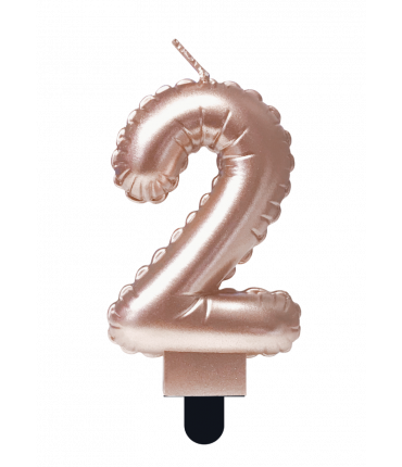 Foil balloon candle rose - 2