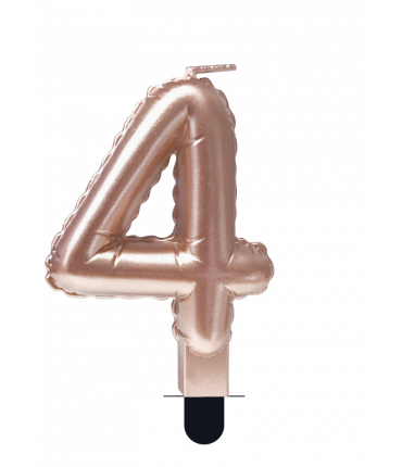 Foil balloon candle rose - 4
