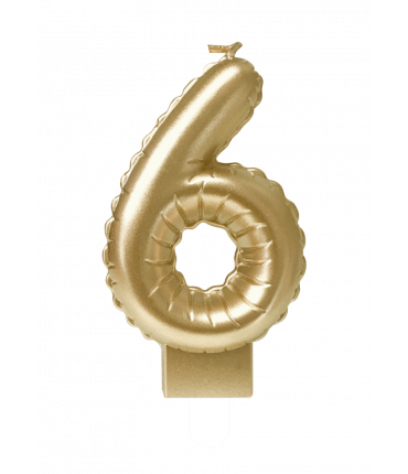 Foil balloon candle gold - 6