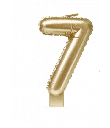 Foil balloon candle gold - 7