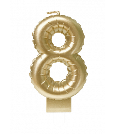 Foil balloon candle gold - 8