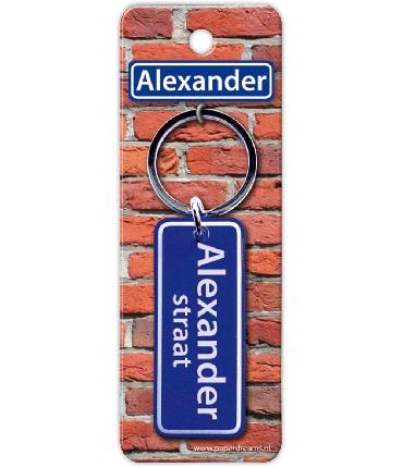 Straatnaam sleutelhanger - Alexander