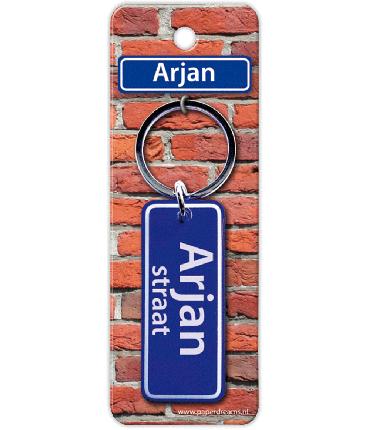 Straatnaam sleutelhanger - Arjan