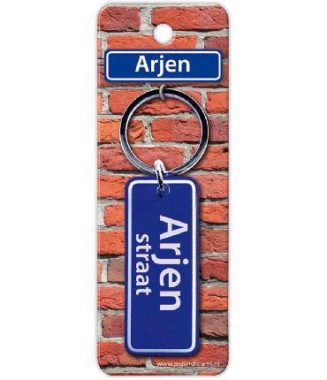 Straatnaam sleutelhanger - Arjen
