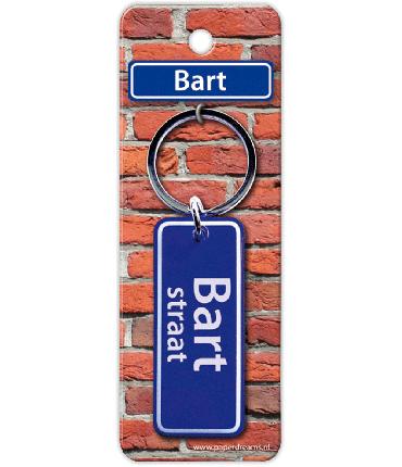 Straatnaam sleutelhanger - Bart