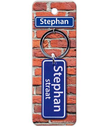 Straatnaam sleutelhanger - Stephan